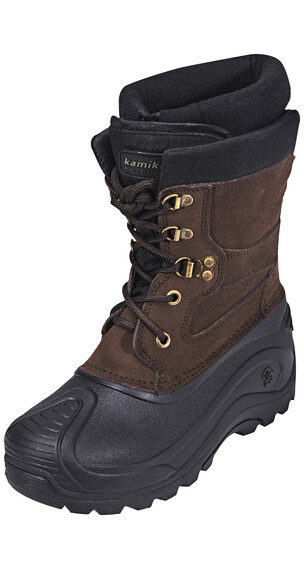 Kamik Nationjr - Bottes - WP marron/noir